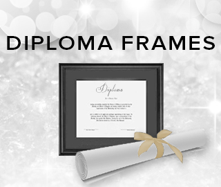 Holiday theme background with picture of diploma frame and scroll. Click to shop diploma frames.