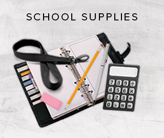 Picture of school supplies. Click here to shop for school supplies.
